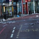 Debris in St John's Road, Clapham Junction after looters rampaged. Photo: MayorWatch