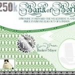 Green supporters have been handing out 'Bank of Boris' notes