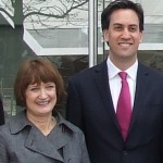 Labour leader Ed Miliband with Dame Tessa Jowell