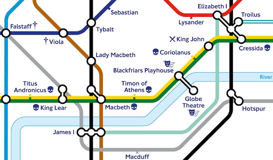 TfL and Shakespeare's Globe release Shakespearian-themed Tube map ...